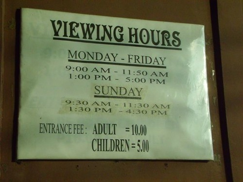 Viewing hours of the Museum