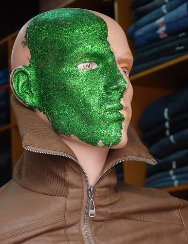 Green alien mannequin