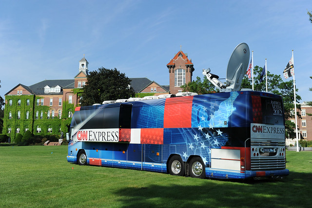 The 'CNN Express' returned to the Saint Anselm Quad for it's second campus visit in June, 2011