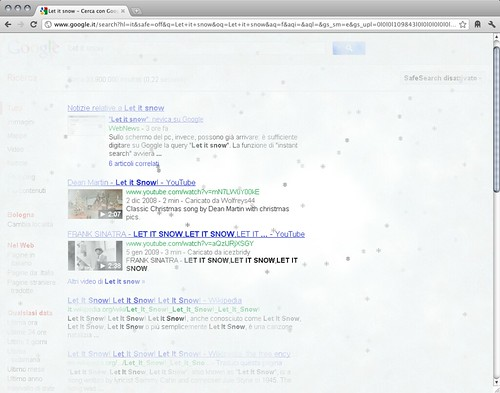 Google - Let it snow (ice)