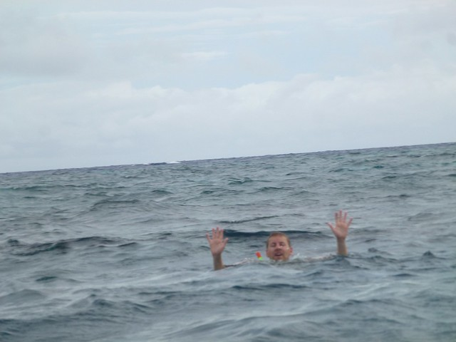 Shark attack, no just a poor wave to the camera