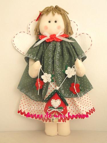 Anjinha de Natal by Artes de uma Larissa