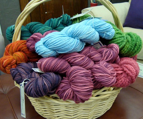 Hand-dyed wools from The Yarn Shop