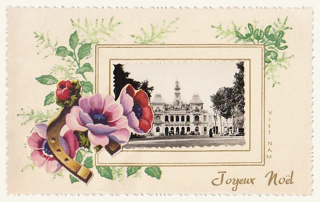 SAIGON - carte de Voeux Noël - Thiệp Giáng Sinh thời Bảo Đại