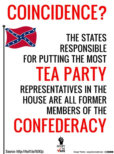 Tea Party, Congress Members, Former Confederate States. Coincidence?