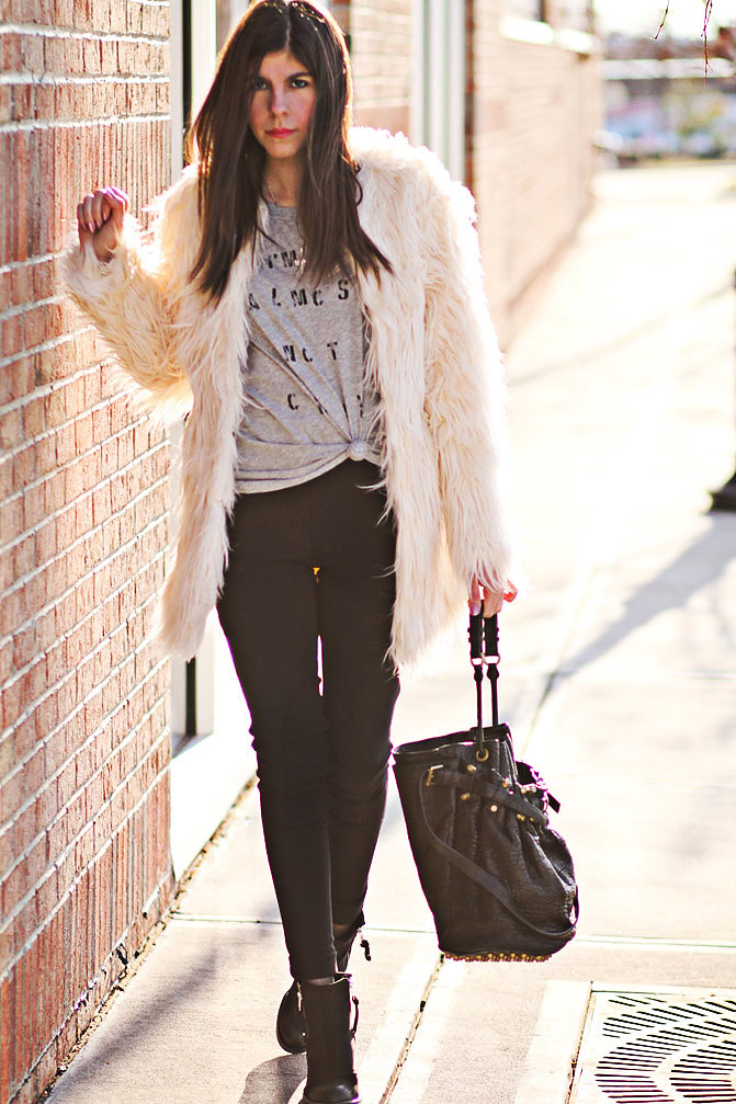 Stylemint, Alexander Wang Diego Bucket bag, Topshop Ambush boots, American Apparel Riding Pants, Fashion Outfit