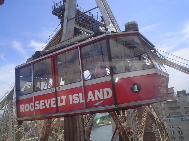 roosevelt island cable car in new york city usa