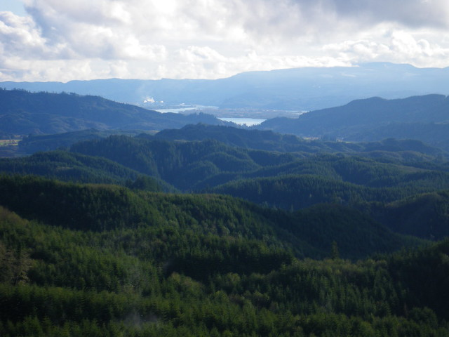 Looking down at Skamokawa valleys