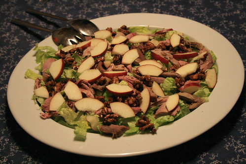 yule salad with duck
