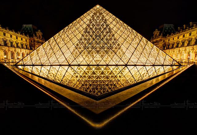 Louvre en OR HDR ~ Paris ~ France ~ Louvre ~by D.F.N.