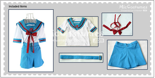 Cosplay Haruhi Suzumiya Short School Uniform1