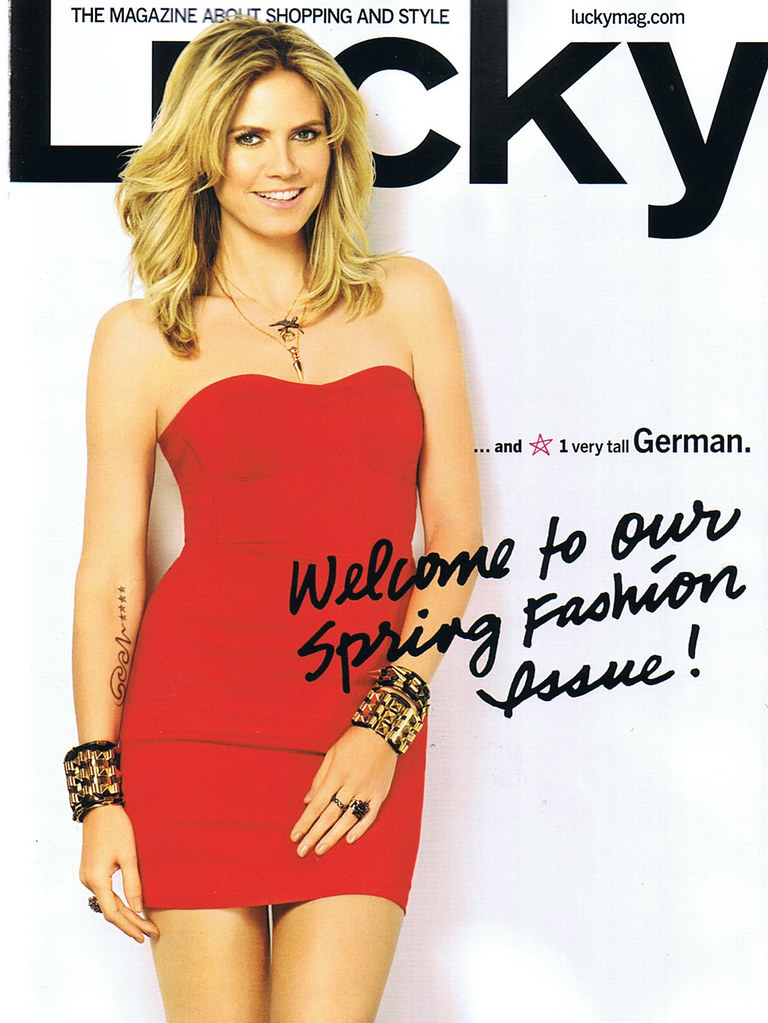 LUCKY MAGAZINE MARCH 2011 COVER