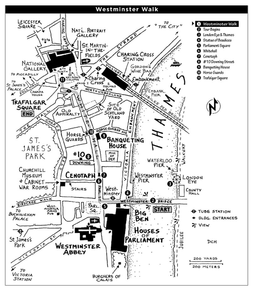 Westminster Walk Map
