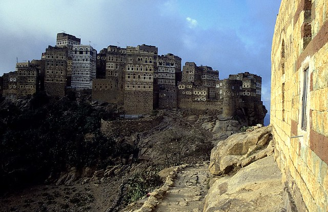 The village of Hajarah in Yemen