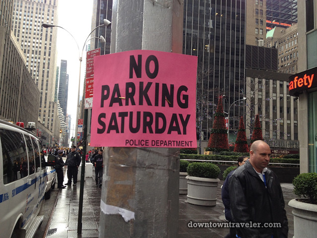 NYC Times Square New Years Eve 2012_No Parking