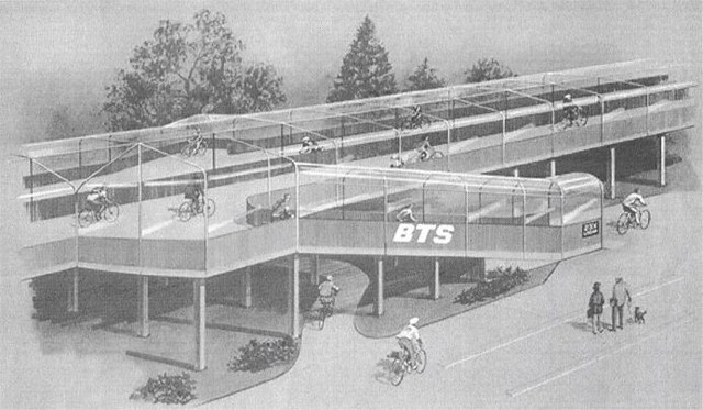 Retro Design for Covered Cycle Tracks in Holland