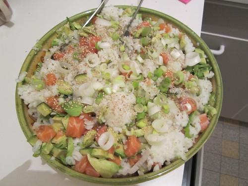 California roll version salade
