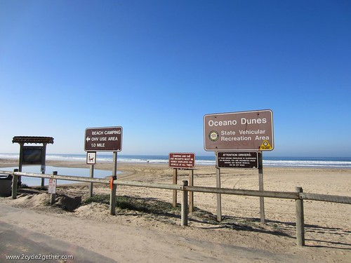 Oceano Dunes : Where you can camp for $10 if you own a gasoline spewing vehicle and want to drive all over a beach with it.