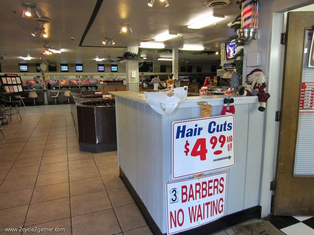 The Barber Shop inside the Bowling Alley