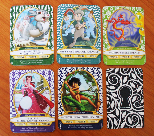 Sorcerers of the Magic Kingdom cards - Front