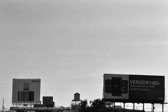 iPad (Apple) and Verizon billboards, San Francisco