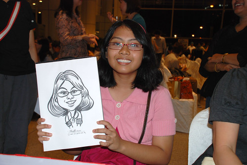 caricature live sketching for kidsREAD Volunteer Appreciation Day 2011 - 11