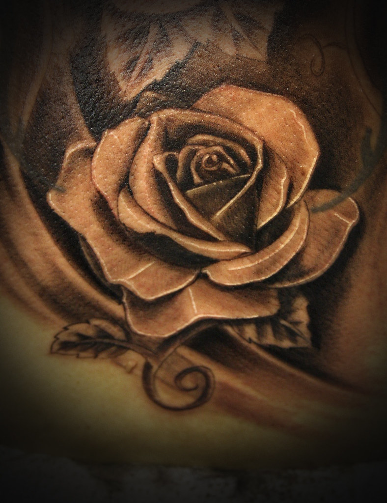 Realistic Rose Tattoo Black And Grey Wwwtransylvaniarites Flickr