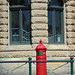 Small photo of Red pillar box