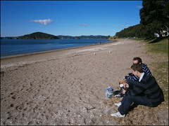 (one of the) last beer in New Zealand on Paihia Beach