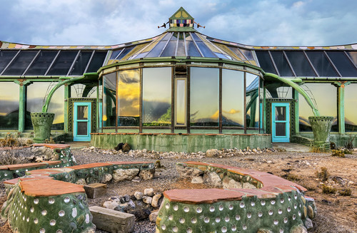 Earthship View 02 New Mexico An Earthship Is A Home
