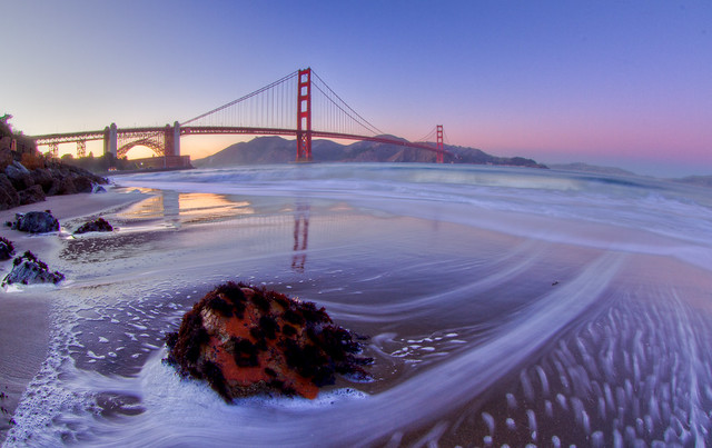 The Tide by Golden Gate Bridge
