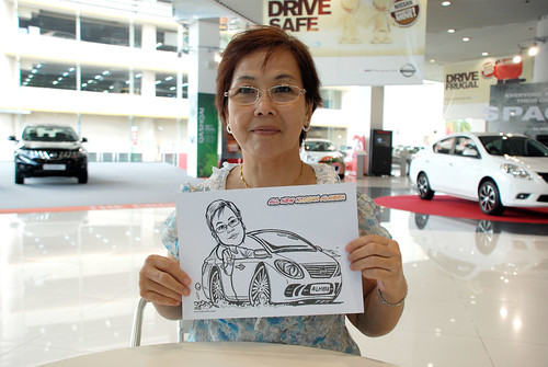 Caricature live sketching for Tan Chong Nissan Motor Almera Soft Launch - Day 4 - 2