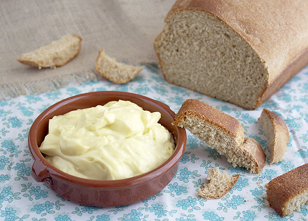 Homemade mayonnaise is easy and quick to make. You can make it with 4 ...