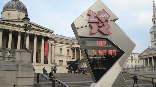 2012 London Olympics Clock Countdown Trafalgar Square