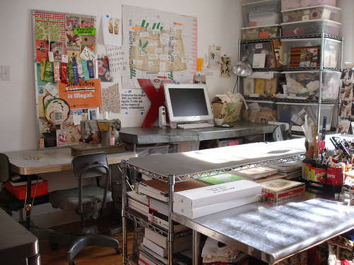 workdesk and sewing center