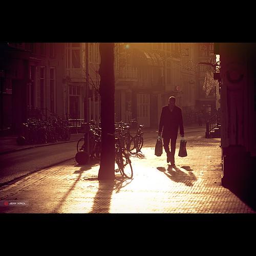 road street city morning light people sun man tree sunrise canon walking eos dawn golden streetphotography special bicycles flare pedestrians reflective balance bags awake groningen cinematic f28 balanced 70200mm goldenlight 70200l ef70200mmf28lusm 60d canon60d jeffkrol