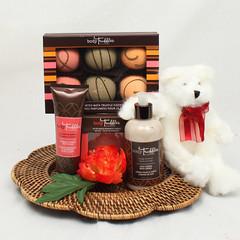 Body Truffles with Bear Valentine's Day Gift Basket
