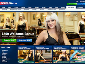 Betfred Live Casino Home
