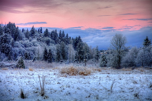 snow sunrise redmond wa 2012 canon5dmk2