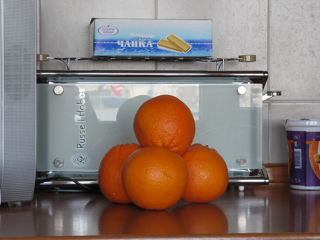 4 oranges