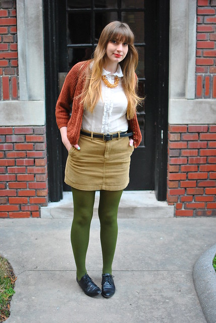 olive green tights