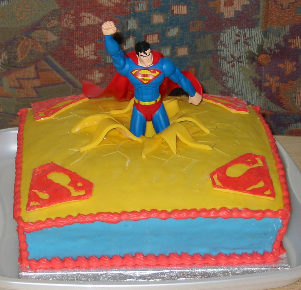 Superman Cake For My Husband S 50th Birthday The Design Flickr