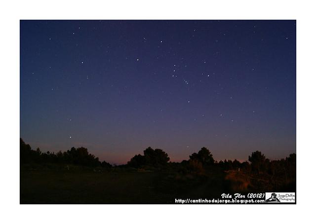 céu com estrelas (longa exposição)