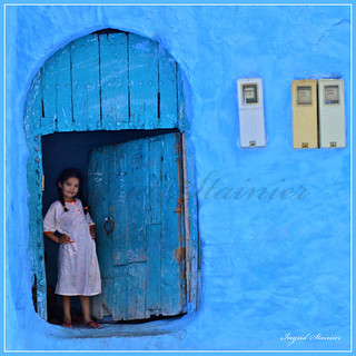 249. Cute Little Girl With Plaits, Chaouen, Morocco