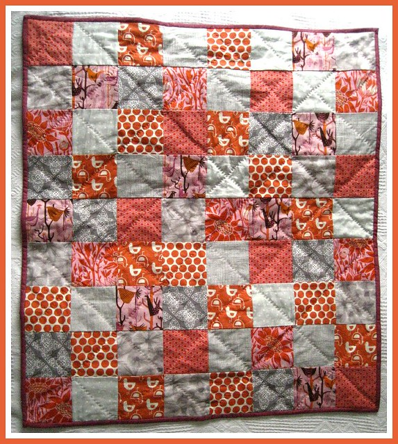 Tangerine Pearl Quilt finished