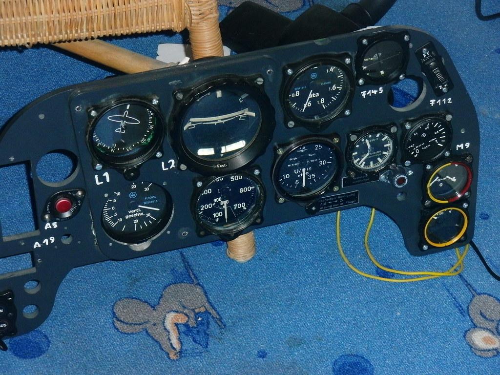 Flugzeug Cockpit 100% Original Art Foto