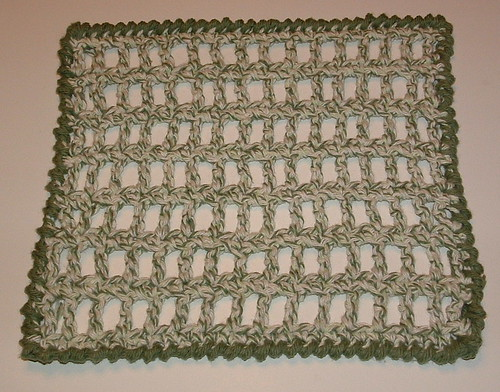 Picket Fence Dishcloth Pattern