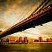 New York City Manhattan bridge view from Brooklyn USA by Zeeyolq Photography