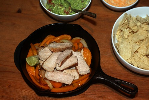 pork and peppers fajitas