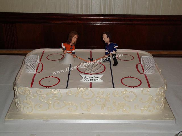 ice wedding cake hockey wedding cake flickr photo 16259